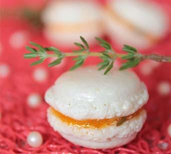 macaron abricto thym