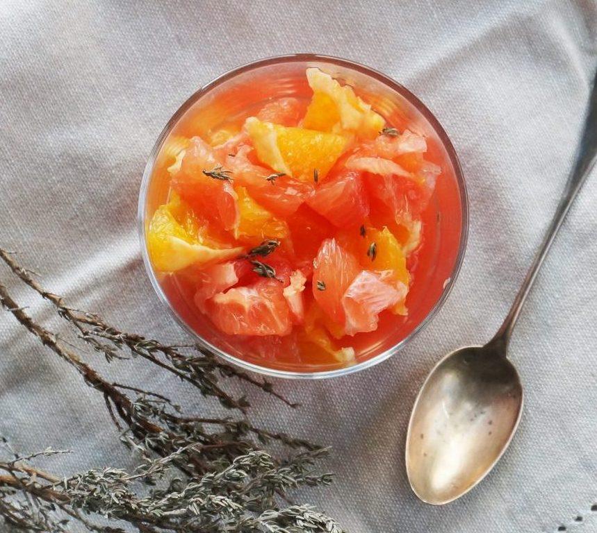 recette de salade d'agrumes au thym bio Veritable®