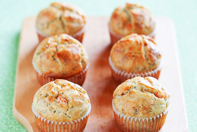 petits cakes muffins saumon emmental aneth