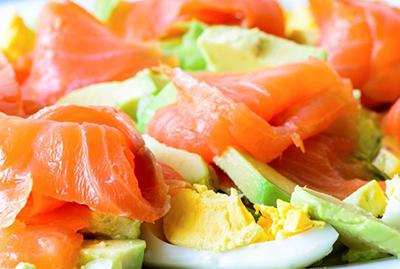 salade norvégienne légère avocat aneth