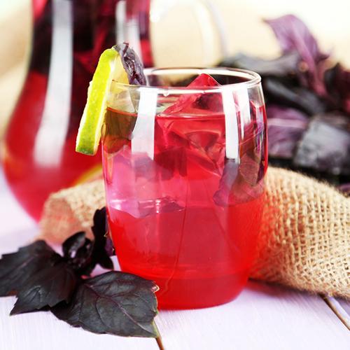 recette limonade maison basilic pourpre bio