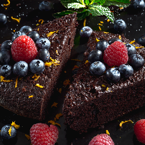 Dessert de Fêtes au Chocolat, Orange & Menthe