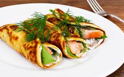 Crêpes salées au saumon et à l'Aneth : recette Véritable®